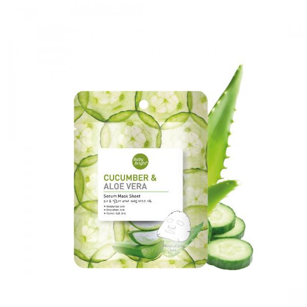 Mặt Nạ Dưỡng Da Dưa Leo & Lô Hội Baby Bright Cucumber & Aloe Vera Serum Mask Sheet (20g)