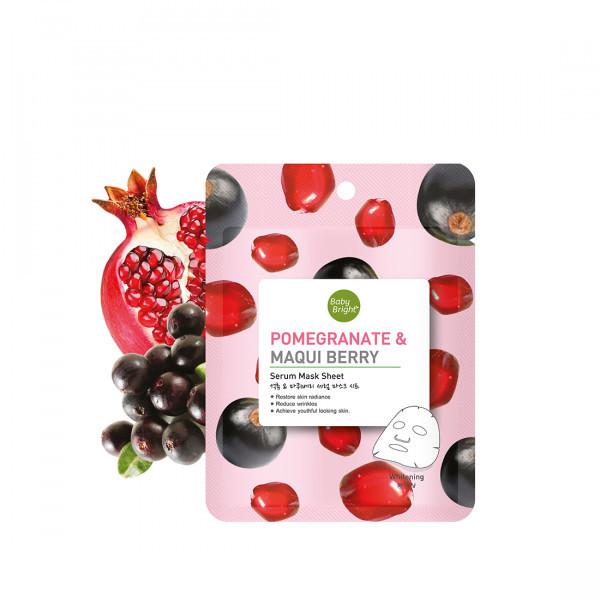 Mặt Nạ Dưỡng Da Quả Lựu Và Quả Maqui Baby Bright Pomegranate & Maqui Berry Serum Mask Sheet (20g)