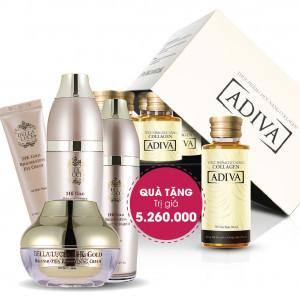 Combo 11 Collagen Adiva (14 lọ/ 1 hộp) + Quà Tặng : 1 Bộ Dưỡng Da Bella Luce Tổng Trị Giá 5.260.000 Đ