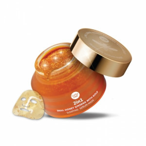 Mặt nạ ngủ vàng Cathy Doll 2in1 Snail Honey Ginseng with Gold Sleeping Serum Mask 70g
