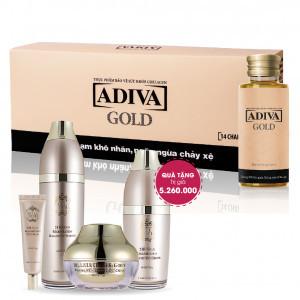 Combo 11 Collagen Adiva Gold (14 lọ/hộp) + Quà Tặng : 1 Bộ Dưỡng Da Bella Luce Tổng Trị Giá 5.260.000 Đ