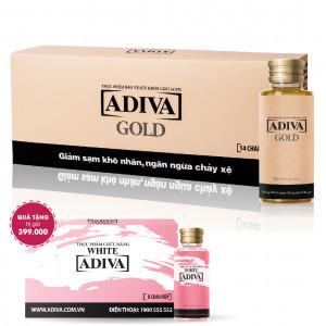 Combo 2 Collagen Adiva Gold (14 lọ/hộp) + Quà Tặng: 1 WHITE ADIVA (8 lọ/hộp) Trị Giá 399.000
