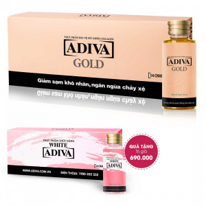 Combo 4 Collagen Adiva Gold (14 lọ/hộp) + Quà Tặng: 1 Collagen Adiva White (14lọ/hộp) Trị Giá 690.000 Đ