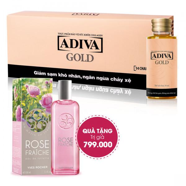 Combo 4 Collagen Adiva Gold (14 lọ/hộp) + Quà Tặng 1 Nước Hoa Eau De Toilette - Un Matin Au Jardin 100 ml Trị Giá 799.0000 Đ