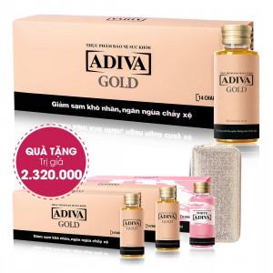 Combo 7 Dưỡng Chất Uống Làm Đẹp Adiva Gold ( 14 lọ/ hộp) + Quà Tặng : 2 Dưỡng Chất Uống Làm Đẹp Adiva Gold ( 14 lọ/hộp) + 1 Dưỡng Chất Uống Làm Đẹp White Adiva (14 lọ/hộp) + 1 Ví Nữ Kim Tuyến. Tổng Giá Trị Quà Tặng 2.320.000 Đ