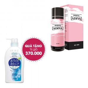 Combo 2 Thực Phẩm Chức Năng White Adiva Dạng Viên (60v/hộp) + Quà Tặng: 1 Sữa Tắm Trắng Và Săn Chắc Da Kose Trị Giá 370.000đ